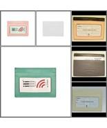 RFID blocking credit card case holder ILI leather 7201 pink, gray, white - $11.99