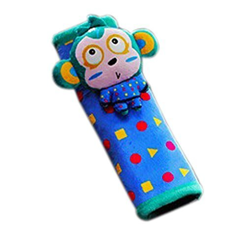 Creative Safe Car Soft Seat Belt Strap Cover, Lovely Catoon Monkey, Green