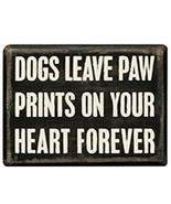 Dogs Leave Paw Prints on your Heart Forever Box Sign Primitives by Kathy... - $10.95