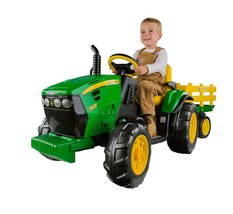 Electric Cars for Kids To Ride On John Deere Tractor Battery Power Trail... - $354.46