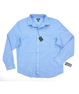 NEW CLUB ROOM PALACE BLUE PERFORMANCE STRETCH OXFORD BUTTON DOWN SHIRT SZ M - $8.90