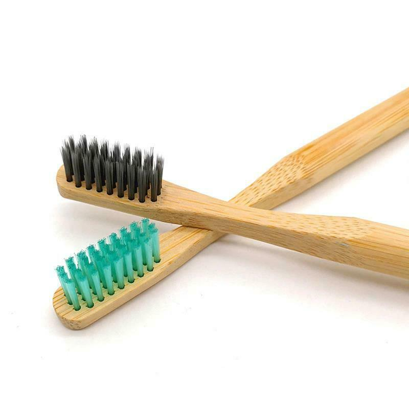 Bamboo Toothbrush Colorful Head Natural Eco Friendly Anti Bacterial Soft Bristle image 3