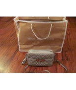 MICHAEL KORS Cross Body Bag Authentic NWT LIght Gray Quil... - £127.94 GBP