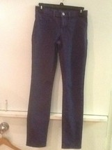 J Brand Womens Skinny Jeans Size 25 Low Rise Pencil Leg Navy Blue Pants - $13.95