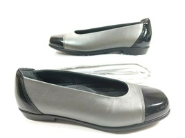 SAS Womens Coco Graphite Tripad Comfort Ballet Flat Black Patent Cap Toe 6.5 M - $44.50