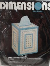 Dimensions Plastic Point 2526  Dainty Floral Tissue Box Cover 1984 New  ... - $15.67
