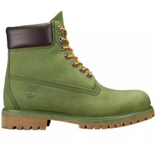 TIMBERLAND Men's Premium 6 inch BOOTS A1M72 Pesto Green waterbuck Size:10.5 - $167.37
