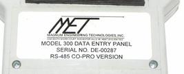 MET MODEL 300 DATA ENTRY PANEL image 2