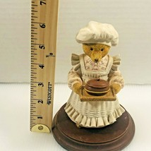 DEPT. 56 MRS BUMBLES RULES OVER THE KITCHEN CERAMIC BEAR FIGURINE ON WOO... - $9.89