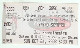 COOL Lynyrd Skynyrd 10/26/03 Oklahoma City OK Ticket Stub! OKC - $8.90