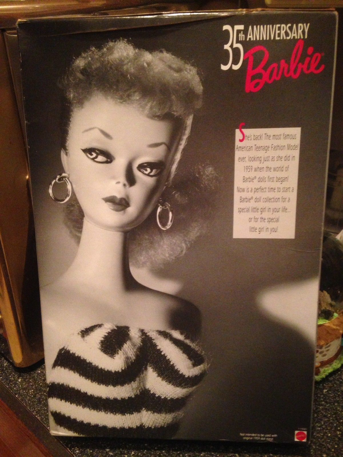 Barbie 35th Anniversary Special Edition Reproduction of Original 1959 Doll & Pkg