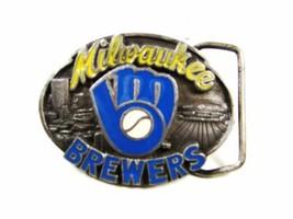 1989 Milwaukee Brewers Licenza Ufficiale Fibbia Della Cintura da Siskiyo... - $45.52