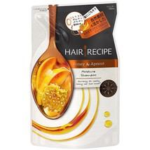 From Japan Hair Recipe Honey Apricot Enrich Moisture Shampoo 330ml Refill - $16.83