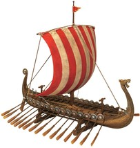 Viking Dragon Headed Longship Museum Replica Model Ship with Display Stand - $103.90