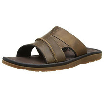 Timberland Men's Originals Medium Brown Leather Slide Sandals 5343A - $69.99