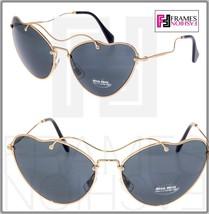 Miu Miu Scenique Cat Eye 55R Black Gold Cat Eye Metal Sunglasses MU55RS - $227.70