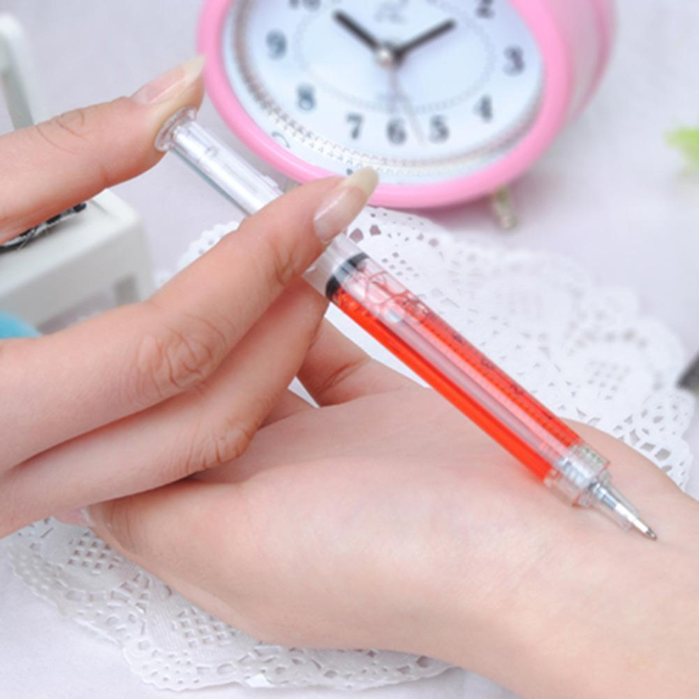 Novertly Syringe-shaped Ballpoint Pens Funny Creative Ball Point School Pen Nice