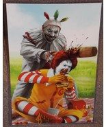 Twisty Clown vs Ronald McDonald Glossy Art Print 11 x 17 In Hard Plastic... - $24.99