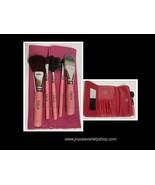 Cala Pink Coral Make Up Brush Set 5 PC Pouch Travel Set - $7.99
