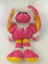 Vintage 1987 Hasbro Silly Willies Plush Toy Pink Yellow Furry Bunny Ear ... - $49.49