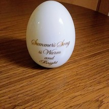 """AVON Porcelain Egg 1984 """" Summer's Song is Warm and Bright"""" Figurine       image 3"""