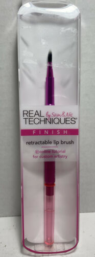 Real techniques by Sam & Nic finish single retractable Lip Brush Pink T2 - $14.62