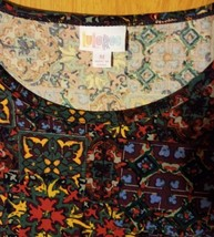 Lularoe Irma Leggings Material Multi Colors Reminds me of Celtic Squares image 2