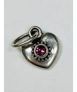 Pandora Sterling Silver Rhodolite Small Heart Pendant / Charm - $19.59