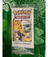 Pokemon Trading Card Game 3 Additional Game Cards BRAND NEW SEALED - $9.89