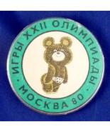 1980 MASCOT MISHA OLYMPIC GAMES MOSCOW USSR RUSSIAN BEAR RARE PIN BADGE - $5.00