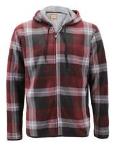Men's Casual Flannel Zip Up Fleece Lined Plaid Sherpa Hoodie Lightweight Jacket image 2