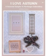 I Love Autumn Seasonal Sampler Hardanger Embroidery Watnemo Pattern Book... - $6.27