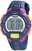 Timex Women's T5K813 Ironman Rugged 30 Mid-Size Blue/Pink Color Block Re... - $72.21