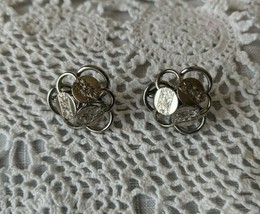 Sarah Coventry Designer Signed Silver Tone Clip On Earrings - $7.75
