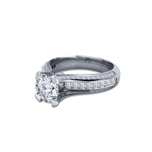 14k White Gold Plated With 925 Silver Round Cut CZ Solitaire With Accent... - $77.20