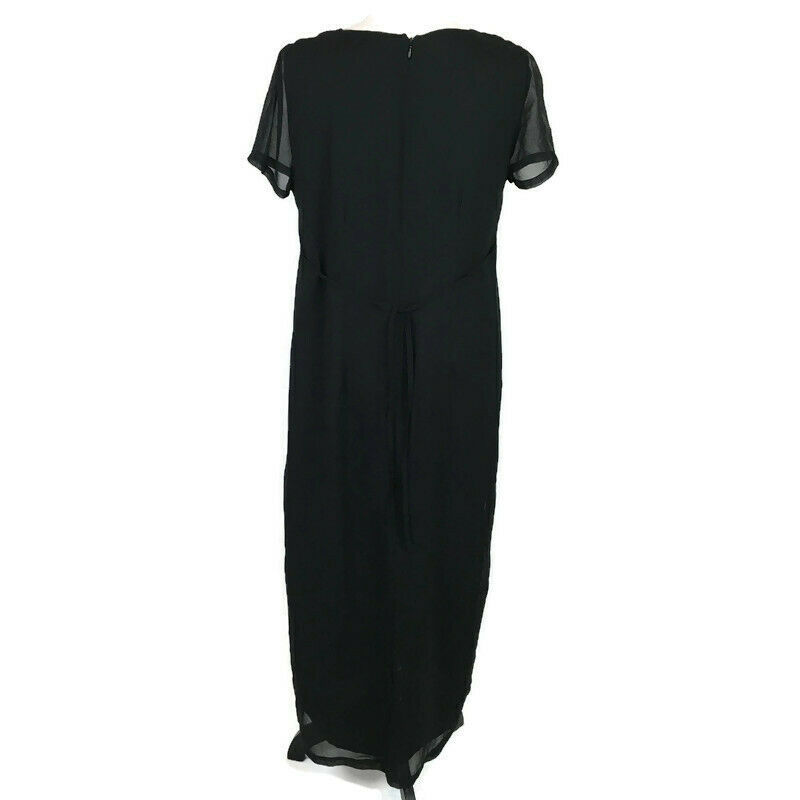 Motherhood Maternity Women's Dress Size Small Black Cocktail Maxi image 4