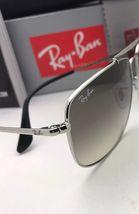 RAY-BAN Sunglasses THE COLONEL RB 3560 003/32 58-17 Silver Aviator w/ Grey Fade image 7