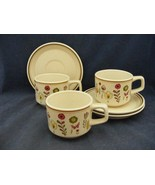 3 Lenox Sprite Temper-Ware Freezer to Table Cups & Saucers  - $9.00