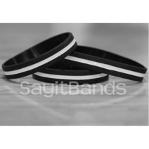 Set of Thin Gray Line Wristband Corrections Officers Awareness Bracelet ... - $1.48+