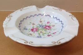 Royal Albert Petit Point Round Ashtray Needlepoint Design Floral England - $23.36
