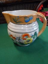 Beautiful Collectible Vintage PITCHER Iridescent Hand Painted Made in Japan - $17.04