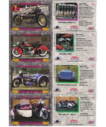 Champs American Vintage Cycles Set of 4 Prototype Promo Cards 1993 Skybo... - $7.84