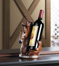 HORSE WINE BOTTLE HOLDER Countertop Stallion Sculpture - $34.95