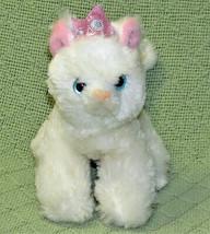 "Aurora World Mini Flopsies 6"" Princess White Cat B EAN Bag Stuff Animal Pink Crown - $9.90"