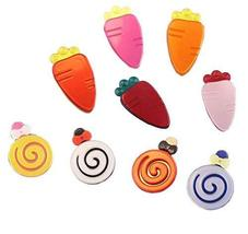 6 Pcs Adorable Lollipop & Carrot Hair Clips for Baby Toddler Girls(Random Color)