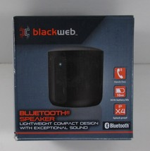 Blackweb BW18AA010 Lightweight Compact Bluetooth Portable Speaker - Black - $12.49 CAD