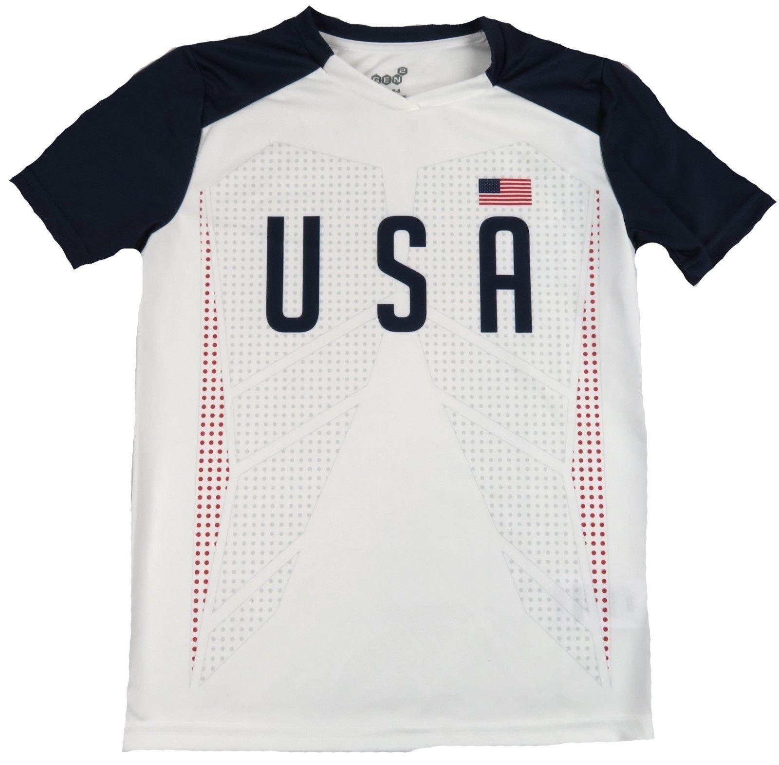 Men's Team USA Federation Soccer Jersey Shirt Performance Tee U.S.A. Adult