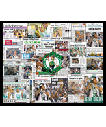 Boston Celtics 2008 World Championship Newspaper Collage  - $19.99