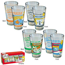 The Simpsons Greetings From Springfield Pint Glass 4 Pack, LICENSED NEW ... - $28.98