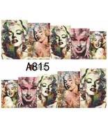 Water Transfer Watermark Art Nails Decal Sticker Marilyn Monroe A815 - $1.74